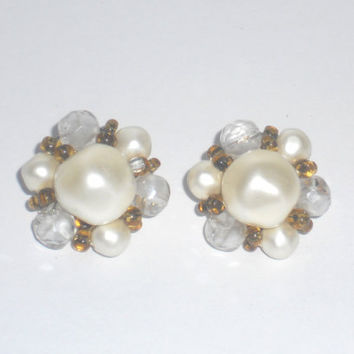 Schiaparelli Vintage Faux Pearl Earrings by houseofheirlooms