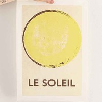 Double Merrick Le Soleil Art Print- Yellow One