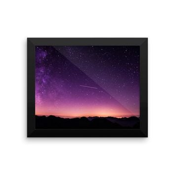 Galaxy Framed photo paper poster