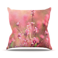 """Robin Dickinson """"Its a Sweet Sweet Life"""" Flowers Outdoor Throw Pillow"""