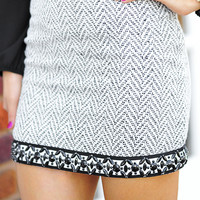 Beautiful In Business Skirt: Black/White | Hope's