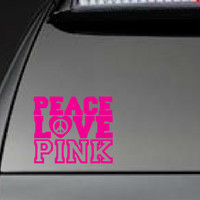 "Victoria's Secret, ""Peace, Love, Pink"" - Car, Laptop, Cell Phone Decal - Free Shipping"