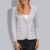 Basic Womens Single Button Blazer