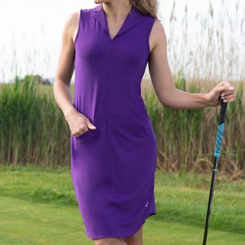 b35080049d971 JoFit Ladies   Plus Size Center Seam Golf Dresses with Undershorts - Sierra  (Purple Mist