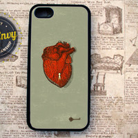 Rustic Heart & Key iPhone 5 case by CaseEnvy on Etsy