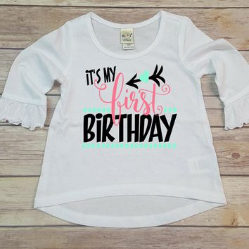 Its My First Birthday Personalized Long Sleeve Shirt