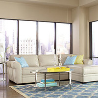 Carmine Leather Sectional Living Room Furniture Collection - Living Room Furniture - furniture - Macy's
