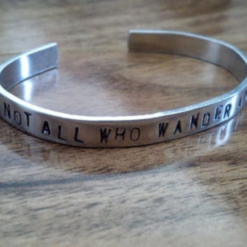 Not All Who Wander Are Lost Stamped Bracelet