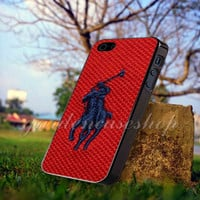 Polo Ralph Lauren Original Logo in Red - for iPhone 4/4s, iPhone 5/5S/5C, Samsung S3 i9300, Samsung S4 i9500 *GARDENCASESHOP*