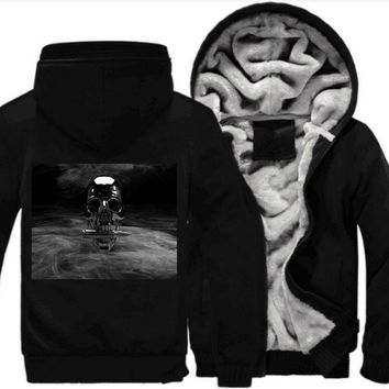 Bullet Skull Fleece Jacket