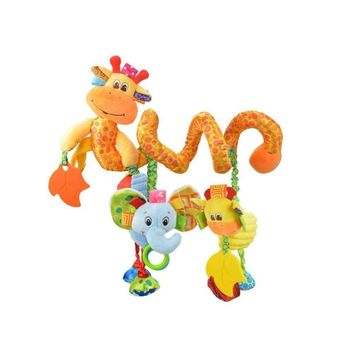 Baby Infant Stroller and Travel Activity Toy Hanging Cute Little Deer Spiral Plush Toys for Baby Pram Crib