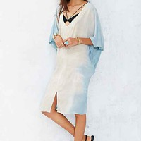 Moon & Sky Oversized Kaftan Tunic Dress- Blue One