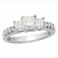 Classic Princess 3-Stone Ready For Love Diamond Engagement Ring Steven Singer Jewelers