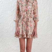 Zimmermann Folly Neck Tie Playsuit