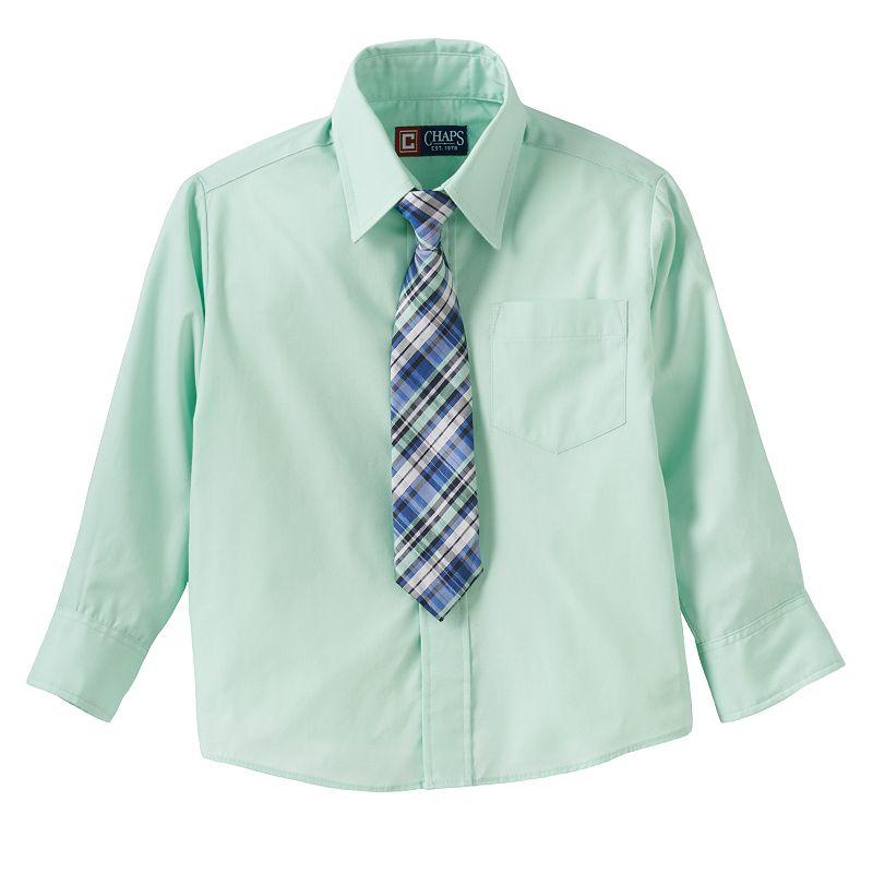 Chaps button down shirt tie set boys from kohl 39 s wedding for Chaps button down shirts