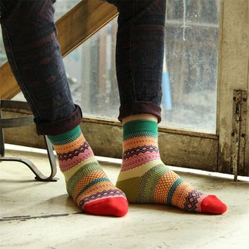 Colorful Stripe Multi-Color Cotton Socks
