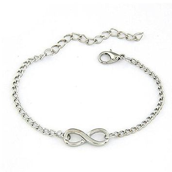 Womens Elegant Infinity Adjustable Bracelet  +Gift Box