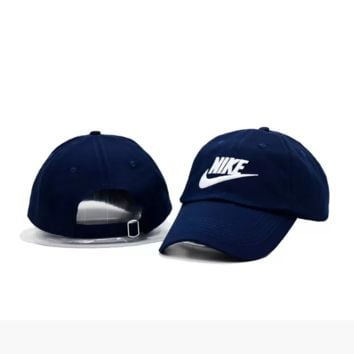 Navy Blue Nike Authentic Embroidered Baseball Caps Hat