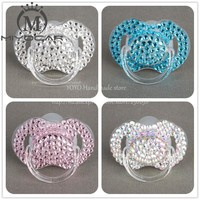 MIYOCAR  4 colors bling rhinestone Baby Pacifier