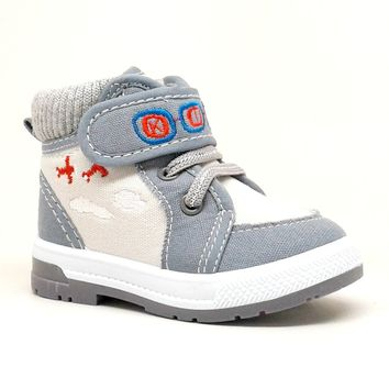 Baby Boy Grey Airplane Themed Sneaker
