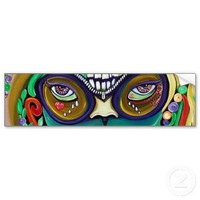 Mardi Gras Magic Bumper Sticker from Zazzle.com