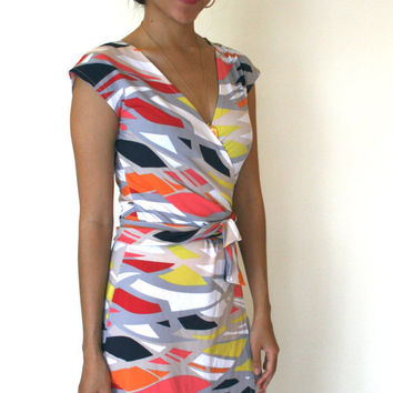 Jersey Wrap Dress Sleeveless With Tulip Skirt DVF by SevenBlooms