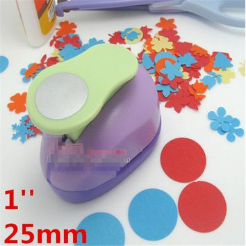 1''(2.5cm) Circle punch diy craft hole punch eva foam puncher Kids scrapbook paper cutter scrapbooking punches Embossing device