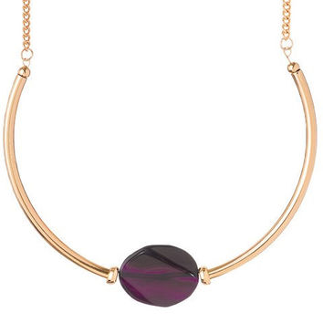Purple Accent Choker