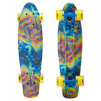 Led Graphic Penny Style Cruiser Board 22 inch Abstract Plastic Fish Skateboard