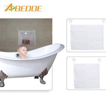 ABEDOE Bathroom Hanging Mesh Bath Toy Storage Bag Net Suction Cup Baskets Shower Baby Kid Children Folding Organizer Bag for Toy