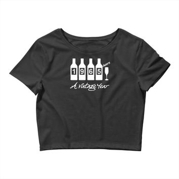 bottles 1965   mens funny Crop Top