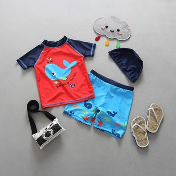 Childrens Swimsuit Cute Children  Boys Swimwear Kids Beach Clothing Uv Protection Suit Infantil Baby Bathing Suit 12 Months 2 3 6 Years Old KO_25_2
