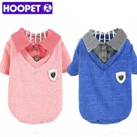 HOOPET Pet Dog Clothes Summer Small Dog Teddy Puppy Pet Dress Clothing For Spring