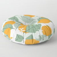Oranges Floor Pillow by mirimo