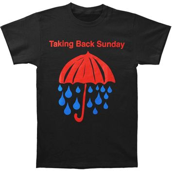 Taking Back Sunday Men's  Rain T-shirt Black
