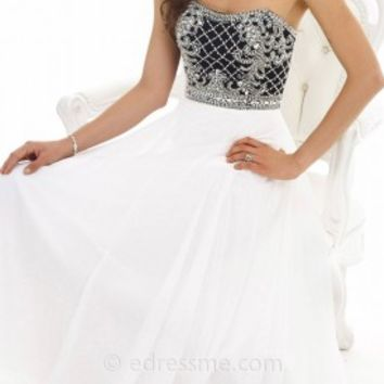 Lattice Beaded Bodice Evening Dresses By Morrell Maxie