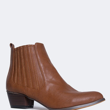 Henri Round Toe Ankle Boot