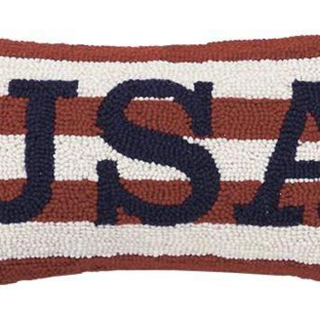 Usa Hook Pillow 9X16""