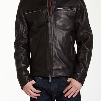 Rogue State Wire Collar Leather Jacket
