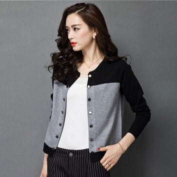 Spell Color Loose Double Breasted Cardigan
