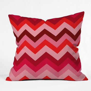 Romi Vega Chevron Red Throw Pillow