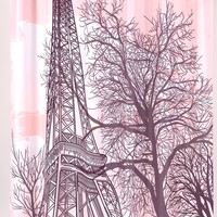 "Eiffel Tower Shower Curtain, 70"" x 72"""