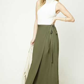 Contemporary Maxi Wrap Skirt
