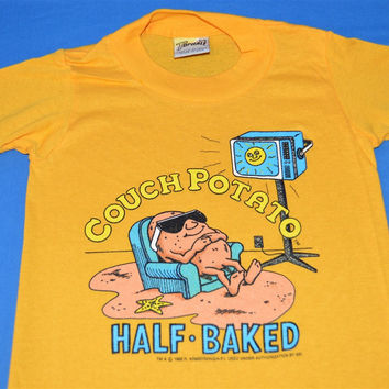 80s Couch Potato Half Baked Deadstock t-shirt Youth 5/6
