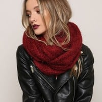 Counting Stars Infinity Scarf - Burgundy
