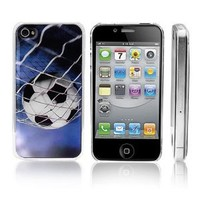 Transparent Snap-On Clear iPhone Cover Case for 4/4S iPhone - Soccer - personalized Design Is Available with a Minimum of 20 Pcs Orders