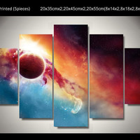 Marvelous Universe 5 Panel Canvas Painting Wall Art