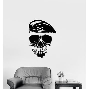 Vinyl Wall Decal Soldier Skull Military Gamer Room Decor Stickers (3901ig)