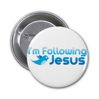 Twitter me I'm Following Jesus Christ Buttons from Zazzle.com