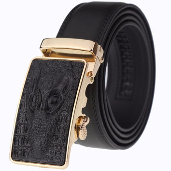 Designer belts men high quality cincture home fashion genuine leather belt male strap crocodile logo luxury